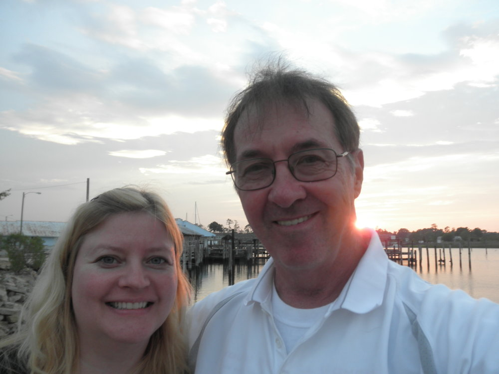 Click on this link. Jim and Val on the Virginia waterfront.